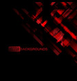 abstract red colors geometry on a black vector image vector image