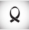 aids awareness symbol on white background vector image vector image