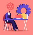 audit concept administrator business man
