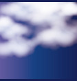 background with clouds over nightly sky vector image vector image