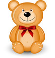 bear with red bow vector image