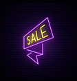 black friday neon signboard light sale flash vector image vector image