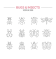 Bugs Icon Collection vector image vector image