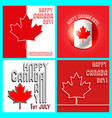 canada day template set vector image vector image