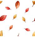 cartoon leaf seamless pattern autumn vector image vector image