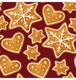 christmas ginger seamless vector image