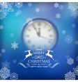 Christmas Typography Clock Background vector image