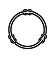 circle frame with knots and two infinite even vector image vector image