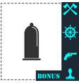condom icon flat vector image vector image