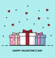 creative happy valentines day postcard vector image vector image