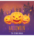 Creepy dark Halloween invitation card vector image vector image