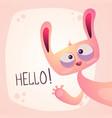 cute rabbit - funny hello vector image vector image