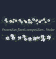 decorative floral composition vector image vector image