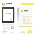 dollar business logo tab app diary pvc employee vector image vector image