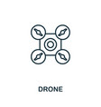 drone outline icon creative design from smart vector image