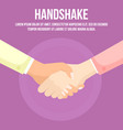 female handclasp woman handshaking businesswoman vector image