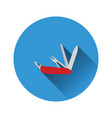 flat design icon of folding penknife vector image vector image