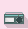 fm am radio icon flat style vector image vector image