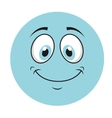 happy cartoon icon vector image vector image