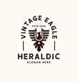 heraldic eagle logo template logo vector image