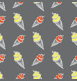 ice cream in waffle cupseamless pattern vector image vector image