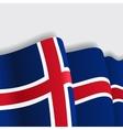 Icelandic waving Flag vector image vector image
