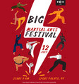 martial arts festival poster vector image