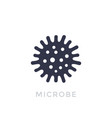 microbe bacterium icon isolated on white vector image