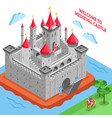 middle ages european royal castle composition vector image vector image