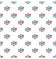 molecular lattice pattern seamless vector image