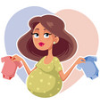 mother holding baby onesies cartoon vector image vector image