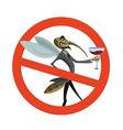 No mosquito vector image vector image