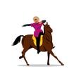 north caucasus rider cartoon vector image vector image
