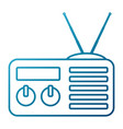 old radio stereo vector image