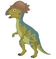 Pachycephalosaurus cartoon vector image