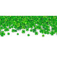 patricks day seamless background with four green vector image vector image