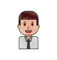portrait businessman worker character cartoon vector image vector image