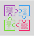 puzzle infographic square four step puzzle jigsaw vector image vector image