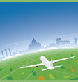 rome skyline flight destination vector image