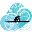 Rowing vector image vector image