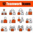 set 12 teamwork icons vector image vector image