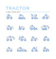 set color line icons tractors vector image vector image