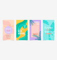 set instagram stories sale banner design vector image vector image