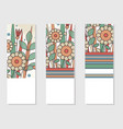 set of 3 invitation or posters in retro style vector image vector image