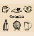set of famous bavarian symbolshand drawn vector image vector image