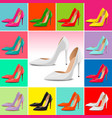 shoes template high heels vector image