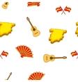 Spain symbols pattern cartoon style vector image vector image