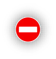 stop sign no entry sign vector image