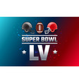 super bowl lv championship banner - red and gray vector image vector image