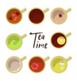 tea time banner vector image vector image